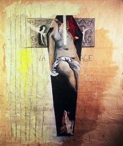 """""""Avec Titien"""" 1999 technique mixte sur papier marouflé sur toile (210 x 220 cm)"""