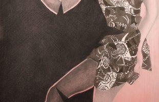"""""""Sans titre"""" 2012 pastel (80 x 220 cm)"""