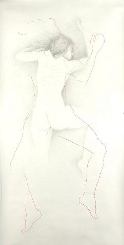 """""""Sans titre"""" 2008 empreinte et graphite (113 x 220 cm)"""
