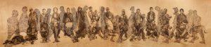 """""""Sans titre"""" 2016  fusain sur papier marouflé sur toile (11 m x 2,50 m)"""