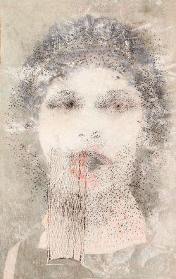 """""""Sapho"""" 2016 technique mixte sur papier (25 x 40 cm)"""