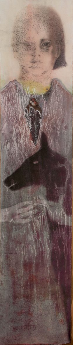 """""""Sans titre"""" 2017 Technique mixte sur papier (26 x 120 cm)"""