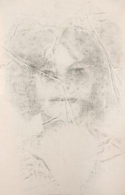 """Capucine""2016 fusain sur papier (40 x 50 cm)"