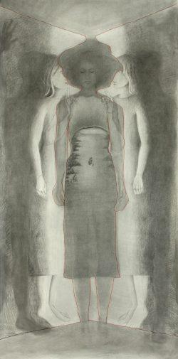 Sans titre, broderie et graphite 2008 (113x220cm)